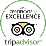 Trip Advisor - 2016 Certificate of Excellence